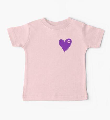 VW Dark Purple Heart  Baby Tee