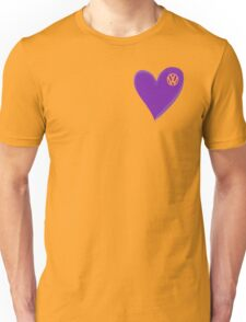 VW Dark Purple Heart  Unisex T-Shirt