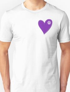 VW Dark Purple Heart  T-Shirt