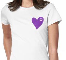 VW Dark Purple Heart  Womens Fitted T-Shirt