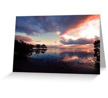 Nudgee Beach Sunrise. Brisbane,  Queensland, Australia. Greeting Card