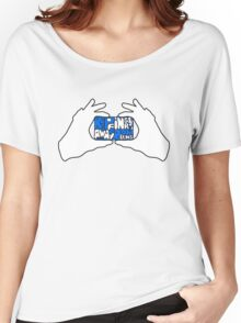 Keep Fingers Away From Lens (sticker) Women's Relaxed Fit T-Shirt