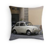 Fiat in Florence Throw Pillow
