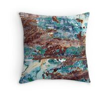Rockpools by the Sea Throw Pillow