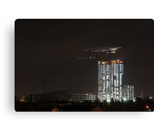 Nocturnal Construction Canvas Print