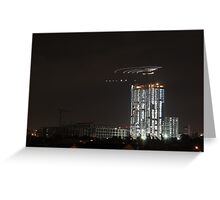 Nocturnal Construction Greeting Card