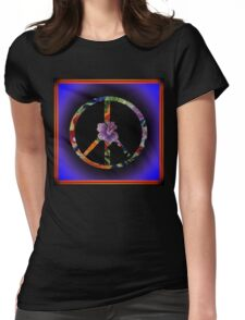 Peace Sign Womens Fitted T-Shirt