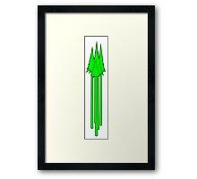 Tall Pines Green Framed Print