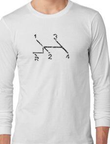 VW Gear Shift Kombi - black text Long Sleeve T-Shirt