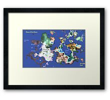 Map of Earthsea Framed Print