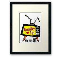 Reality TV My BFF Old-fashioned TV Set Framed Print