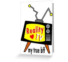 Reality TV My BFF Old-fashioned TV Set Greeting Card