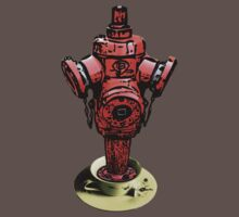 All fired up for tea? Fire hydrant tea tee!  by Denis Marsili - DDTK