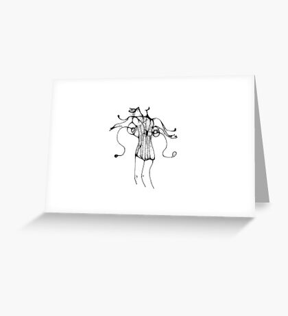 Lady and her Corset Greeting Card