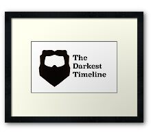 The Darkest Timeline Framed Print