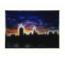 Skyline of London in Fractalius Art Print