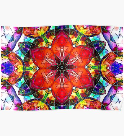 abstract stained-glass Poster