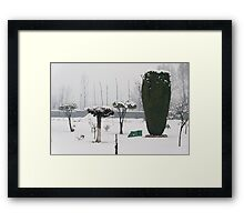 The Snow Garden Framed Print