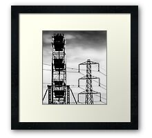 Transformers in the skies Framed Print