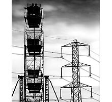 Transformers in the skies Photographic Print