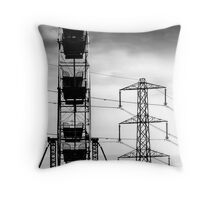 Transformers in the skies Throw Pillow