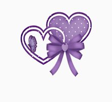 Lilac Hearts Womens Fitted T-Shirt
