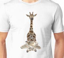 Meditating Giraffe Unisex T-Shirt