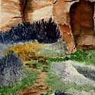 Canyon Path for Challenge by Marie Luise  Strohmenger