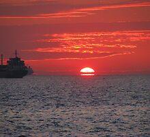 A sunset in Pendik,Istanbul. by rasim1