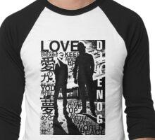 DJ KENOG & H_BALLZ silhouette (light colors) Men's Baseball ¾ T-Shirt