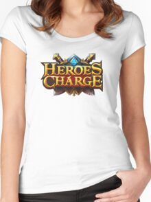 heroes charge Women's Fitted Scoop T-Shirt
