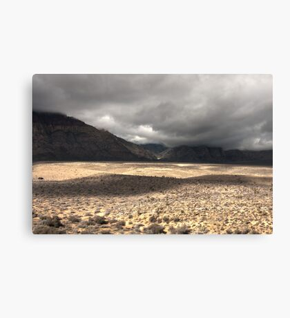 Red Rock HDR Canvas Print