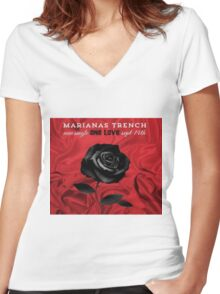 marianas trench single one love Women's Fitted V-Neck T-Shirt
