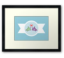 Cute Baby Whales Framed Print