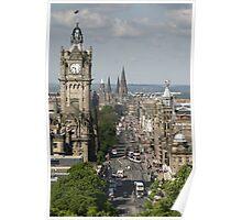 Edinburgh Princess Street Poster