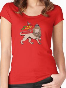 The Lion Women's Fitted Scoop T-Shirt