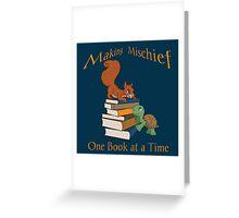 Making Mischief - Squirrel & Turtle Greeting Card