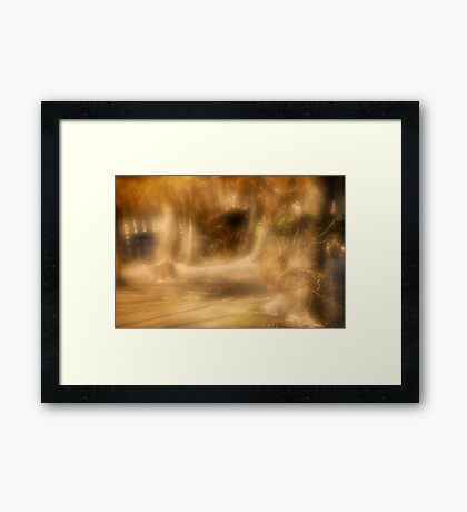 Painted scene Framed Print