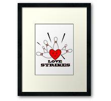 love strikes Framed Print