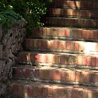 """Sunlight Dancing on the Stairs by Christine """"Xine"""" Segalas"""