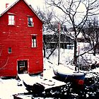 Red Boat House Route 127 by moosewinks