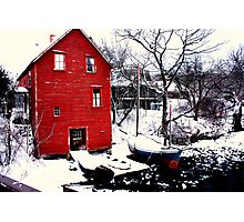Red Boat House Route 127 Photographic Print