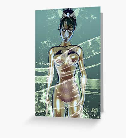 Lady Water Greeting Card