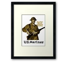 US Marines -- Another Notch Chateau Thierry  Framed Print