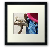 OH, TO BE A GLOVE! Framed Print