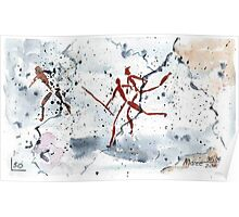 African Bushman Rock Paintings - Ethnic series Poster