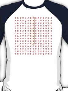 Photography Word Search Puzzle T-Shirt