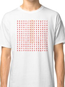 Photography Word Search Puzzle Classic T-Shirt