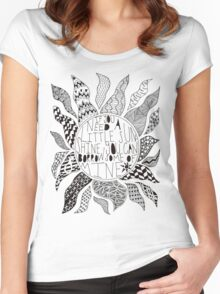 TFB Sunshine Zentangle Women's Fitted Scoop T-Shirt