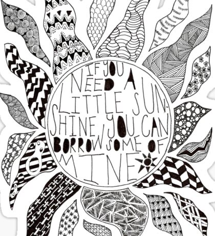TFB Sunshine Zentangle Sticker